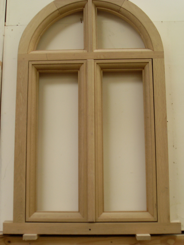Conservation Arched window under construction in our workshop
