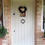 Engineered softwood double boarded front door with view panel Lichfield Staffordshire