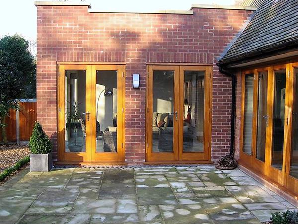 Fully glazed Idigbo doors