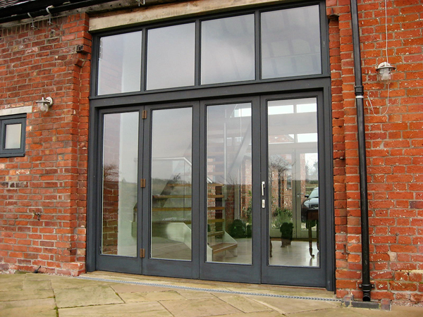 Hardwood Screen with bi fold doors Kings Bromley Staffordshire