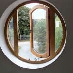Oak Porthole window desgned as a Fire escape Burntwood Staffordshire