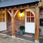 Oak entrance Hammerwich Staffordshire