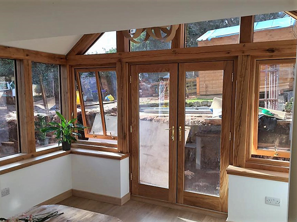 Oak kitchen extension Lichfield staffordshire