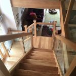 Oak staircase