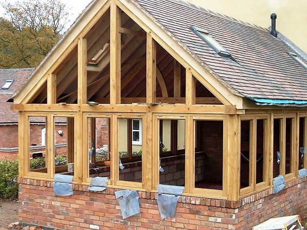 Oak sunroom in Chorley