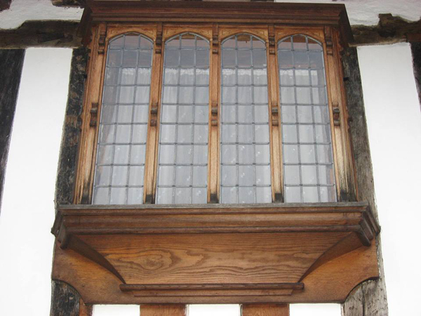 Oriel window Cathedral Close Lichfield Staffordshire