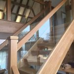 Stair and landing glass balustrading